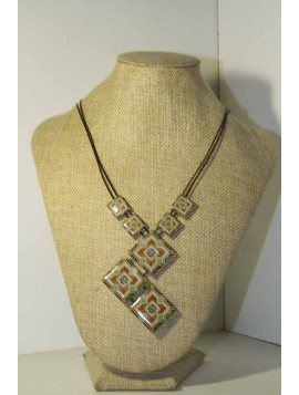 necklace with Portuguese tile pattern