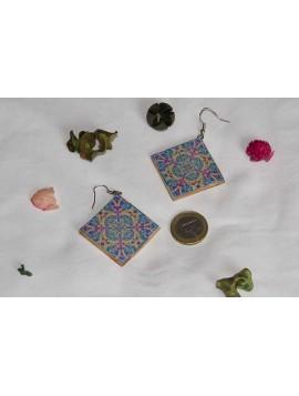 Earrings with mandala