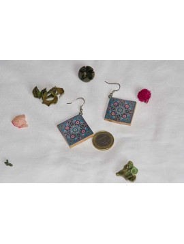Earrings with mandala